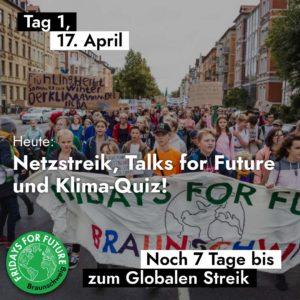 Netzstreik, Talk for Future und Klimaquiz