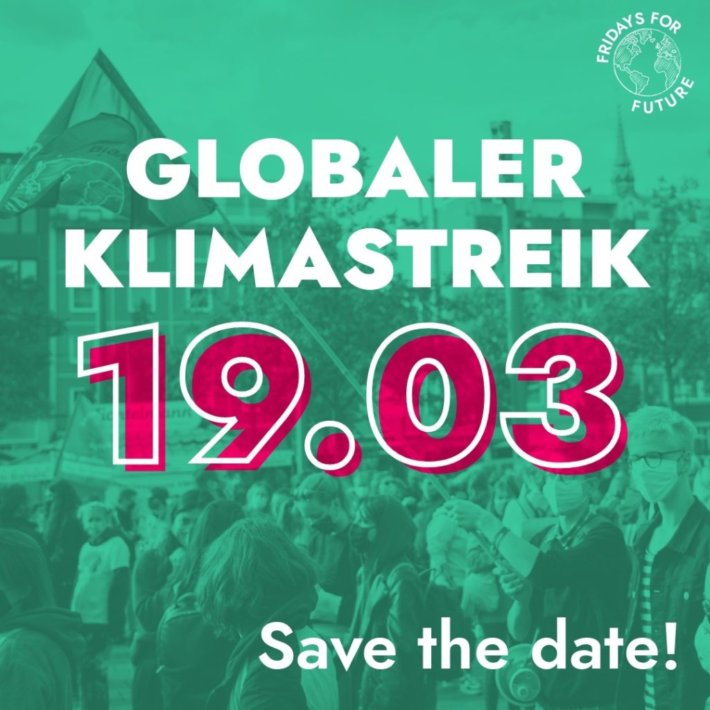 glober klimastreik 19.03. sharepic